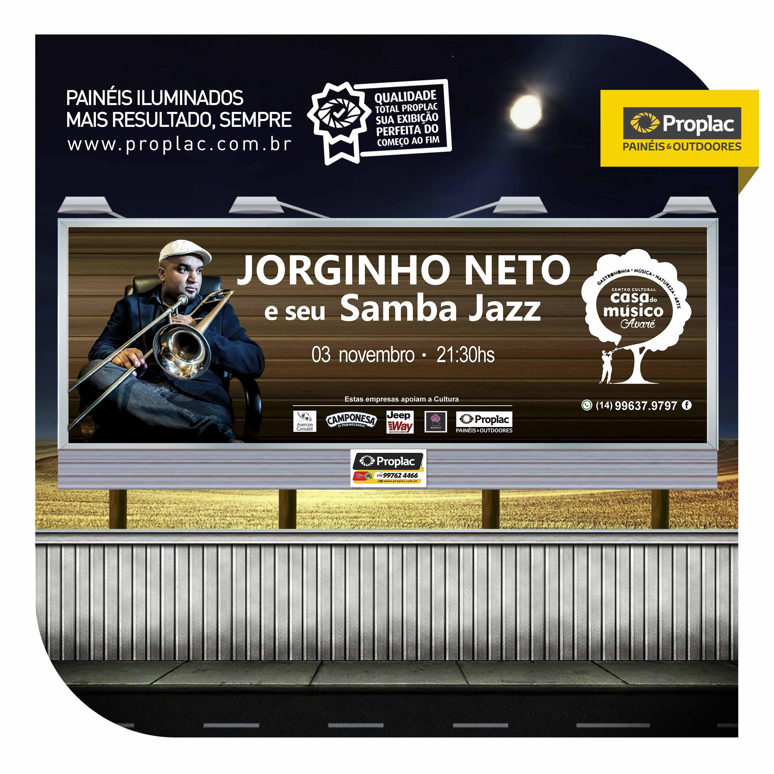 0adacb05fe6aa Apoio ao Centro Cultural Casa do Músico Avaré   Show de Jorginho Neto e seu  Samba Jazz